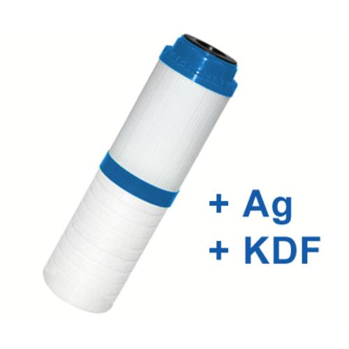 """SILVER-kombinált víztisztító szűrőbetét PP+GAC+KDF+Ezüst 10"""""""